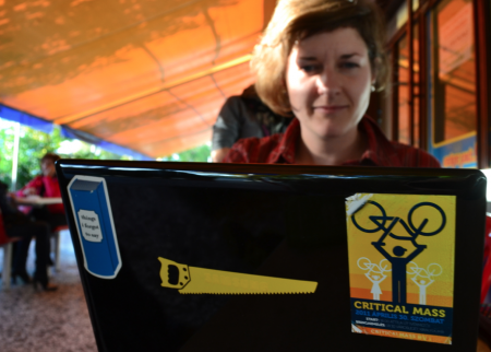 Lea and her laptop