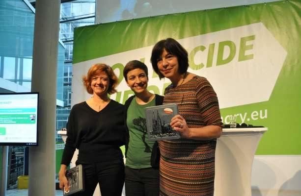 Monica Frassoni, Ska Keller and Rebecca Harms