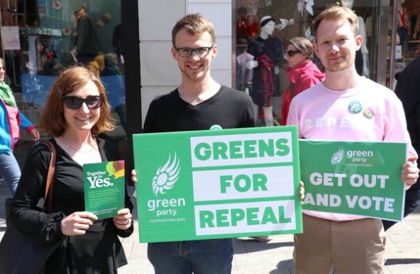Irish Greens campaigning